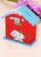 Mizzy Home Ahşap Ev Kumbara-Biblo Renkli